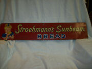 1956 Stroehmannand039s Sunbeam Bread Tin Advertising Embossed Sign