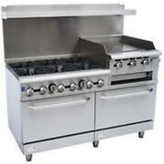 Falcon Food Service 60 Gas Range With 24 Right Side Griddle Broiler And 2 Oven