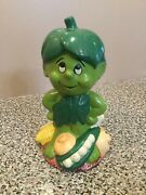 Vintage Jolly Green Giant Co 1985 Little Green Sprout Musical Bank Works