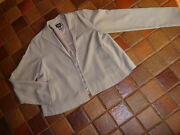 Eileen Fisher Taupe Gray Full Cut Jacket Open Front Long Sleeve Xs Lined