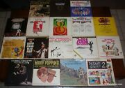 Lot Of 17 Lp Vinyl Records Mary Poppins Fiddler On The Roof Hair My Fair Lady ++