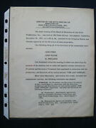 Original Typed Minutes Signed By Director John Ford Re The Last Hurrah Film