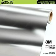 3m 2080 Gc451 Gloss Silver Chrome 60in Wide Vinyl Vehicle Car Wrap Decal Film