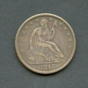 United States 1846-o Seated Liberty Half Dollar You Do The Grading Have Fun