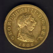 Great Britain. 1806 George 111 - Gilt Copper Penny.. Proof