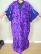 Full Length Plus Robe Puffball Faux Fur Purple Velour Satin Lined Queen Wizard