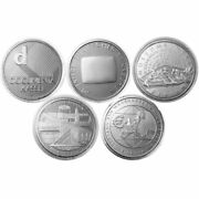 Germany 5 X Commemorative Coins 2002 Pf Set Silver Proof Loose