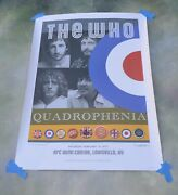The Who Quadrophenia Signed Lithograph Poster Tour 2013 Louisville, Ky