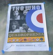 The Who Quadrophenia Signed Lithograph Poster Tour 2013 Greenville Sc