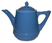 Hall China Musical Teapot Medium Blue With Original Tea For Two Music Box -works