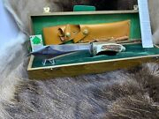 1990 Vintage Rudemann Knife With Stag Handles And Tag Mint Presentation Box