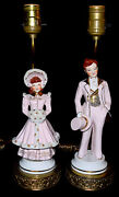 Occupied Japan Maruyama Lamps - Replica Florence Betsy And Reggie Figures 1940s