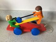 Vintage Kiddicraft Pull Along Toy See Saw Made In Britain Kx4 955