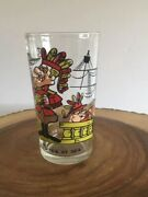 Vintage Dudley Do-right Dudley Takes Tea At Sea Ward Cartoon Glass 5 Used