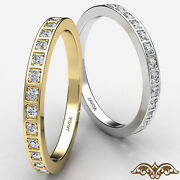 Micro Pave Set Round Diamond Womenand039s Eternity Wedding Band In Gold Ring 0.21 Ct