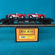 Mth Railking Flat Car With Ertl And03964 Corvettes 30-7624