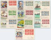Us Sc 785-94 Xf Hand Painted Army Navy 1936 /37 Cover Set Of 10 Spectacular Set