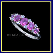 Antique Victorian Ring 14k Gold Ruby Diamond Perfect Wedding Engagement 4093