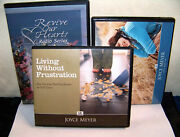 Lot Of 3 2 Joyce Meyer Cd Sets And 1 Nancy Demoss - Excellent Condition