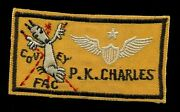 Usaf Covey Fac Special Operations Vietnam Nametag Wing Snoopy Patch A-9