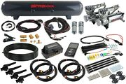 3h Airlift Performance Management 3/8 Air Line 580 Chrome Air Compressor And Tank