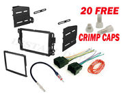 Car Stereo Double 2 Din Radio Dash Installation Bezel Trim Kit + Wiring Harness