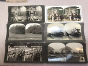 6 Vtg Stereoview Photo Cards Keystone Hudson River Ship Panama West Point Lot