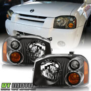 For 2001-2004 Frontier Black Upgrade Headlights Headlamps Replacement Left+right