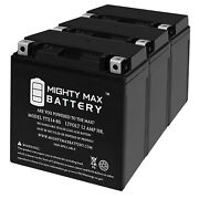 Mighty Max Ytx14-bs Battery Replaces Triumph 1050 Speed Triple R 17-18 - 3 Pack