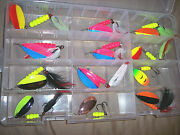 12 Muskie Spinner Bait Pike Rooster Tail Fishing Lure Deep Sea Fishing Lure Lot