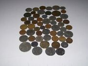 World Coin Lot Of 57 Europe Asia South America Mexico 1960's-1990's
