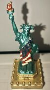 Statue Of Liberty Ring Key Hider Holder Green Flag Gems Usa Freedom Base Opens