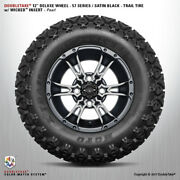 4 Double Take Satin Black Pearl 57 Series Lifted Wheel And Tire 12 Golf Car