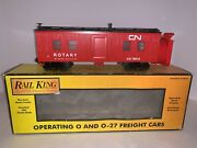 Rail King By Mth Rotary Snow Plow 30-7922 Canadian National