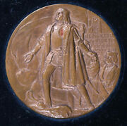 1893 Christopher Columbus Exposition 3 Bronze Medal With Original Boxandnbspccme1bjr