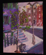 Original Signed - Nyc Tenements Painting 8x10 By Famous American Artist Ej Gold