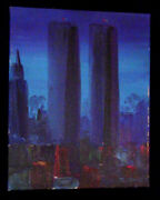 8x10 By Ej Gold Famous American Artist Original Signed Twin Towers