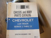 Chevy Luv Truck Chassis And Body Parts Catalog Print 1980 Series 1 Thru 11