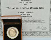 The Burton Mint Of Beverly Hills Halleyand039s Comet Gold Eagle 1ozt Solid 10k Gold