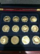 24k-gold-plated Smithsonian American Gold Classics Series Set Of 24 Dfp 92 2/25