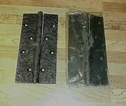 2 Vintage Bronze Rustic Style 4 1/2 Door Hinges New Old Stock Never Used 34