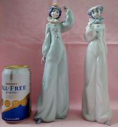 Lladro Clowns Set Of 2 8044[have A Flower]and8045[welcome To The Circus]