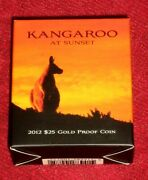 2012 Gold Kangaroo At Sunset 25.00 Coin Low Number 34 A Most Attractive Coin