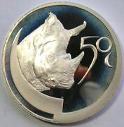 South Africa 2003 African Rhinoceros 2.27oz Silver Coin,proof