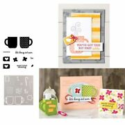 Rise And Shine Coffee Cup Metal Cutting Dies Or Stamps For Diy Scrapbooking Card