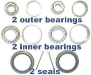 4 Front Wheel Bearings And 2 Seals Ford E100/e200 1969-1974