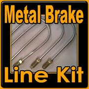 Kit Of Replacement Brake Lines For Gm Fwd Cars 1980 - 1993 The Metal Hard Lines