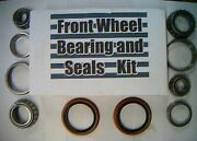 4 Front Wheel Bearings And 2 Seals Vega Monza 1971 To 80-replace These Worn Parts