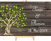 3d Tree Wooden Wedding Personalised With Rustic Background