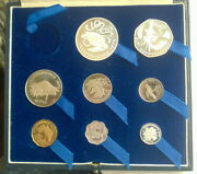Seychelles 1976 Independence Set Of 8 Coinsproofbig Box Type